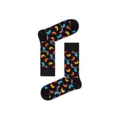 Skarpetki Happy Socks - Junk Food (HOT01-9000). Czarne skarpetki męskie Happy Socks, w kolorowe wzory, z bawełny. Za 34,90 zł.