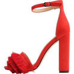 Rzymianki damskie: Public Desire PEPPER Sandały na obcasie red
