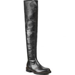 Muszkieterki GINO ROSSI - DKG206-G46-3VSS-9999-0 Czarny 99. Czarne buty zimowe damskie marki Gino Rossi, z materiału, na obcasie. W wyprzedaży za 329,00 zł.