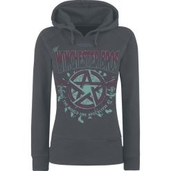 Bluzy rozpinane damskie: Supernatural Winchester Bros Bluza z kapturem damska ciemnoszary