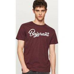 T-shirty męskie: T-shirt z zabawnym nadrukiem – Bordowy