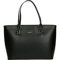 Torba - 100-169-O R N. Szare torebki klasyczne damskie Venezia, ze skóry. Za 399,00 zł.
