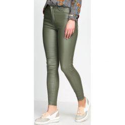 Spodnie damskie: Ciemnozielone Spodnie Maestro