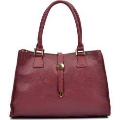 Torebki klasyczne damskie: Skórzana torebka w kolorze bordowym – (S)35 x (W)24 x (G)11 cm