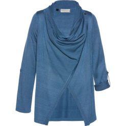 Sweter rozpinany bonprix niebieski dżins. Niebieskie kardigany damskie marki bonprix. Za 99,99 zł.