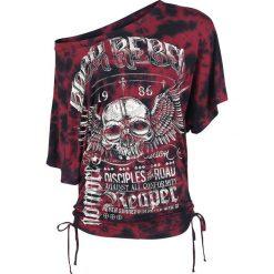T-shirty damskie: Rock Rebel by EMP Win One For The Reaper Koszulka damska bordowy/czarny