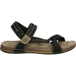 Sandały męskie skórzane: Sandały męskie - 521 NUB BLAC
