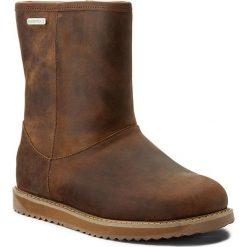 Buty EMU AUSTRALIA - Paterson Classic Leather Lo W11620 Oak. Brązowe buty zimowe damskie EMU Australia, z nubiku, na niskim obcasie. W wyprzedaży za 479,00 zł.