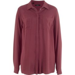 Bluzki damskie: Bluzka koszulowa z wiskozy, długi rękaw bonprix czerwony klonowy