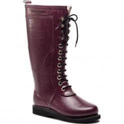 Kalosze ILSE JACOBSEN - RUB1 Eggplant 524. Brązowe buty zimowe damskie marki Alma en Pena, z materiału, na obcasie. W wyprzedaży za 449,00 zł.