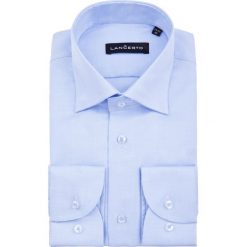 Koszula Błękitna Nilla. Czerwone koszule męskie na spinki marki LANCERTO, m, z bawełny. Za 299,90 zł.