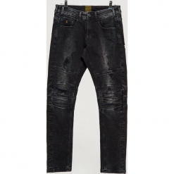 Jeansy SLIM - Czarny. Czarne jeansy męskie regular Cropp. Za 139,99 zł.