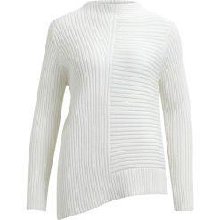 Swetry damskie: Sweter, okrągły dekolt, dzianina o cienkim splocie