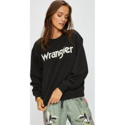 Wrangler - Bluza. Szare bluzy męskie rozpinane Wrangler, l, z nadrukiem, z bawełny, bez kaptura. W wyprzedaży za 149,90 zł.