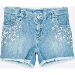 Guess Jeans - Szorty dziecięce 118-175 cm. Niebieskie szorty damskie z printem Guess Jeans, z bawełny, casualowe. W wyprzedaży za 179,90 zł.