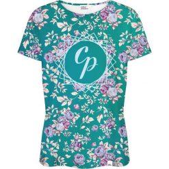 Colour Pleasure Koszulka damska CP-030 261 zielono-różowa r. XS/S. Czerwone bluzki damskie marki Colour pleasure, s. Za 70,35 zł.