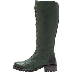 Be Natural WIDE FIT Kozaki sznurowane green. Zielone buty zimowe damskie Be Natural, z materiału. W wyprzedaży za 434,25 zł.