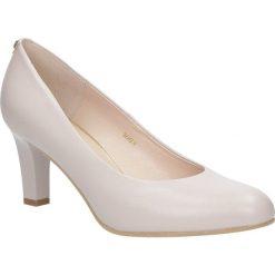 Różowe czółenka skórzane na słupku Casu 5003/698. Czerwone buty ślubne damskie Casu, na słupku. Za 238,99 zł.