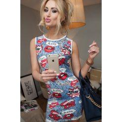 Sukienki: Sukienka FULLPRINT niebieska