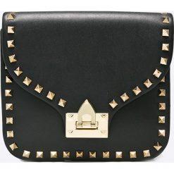 Answear - Torebka Blossom Mood. Czarne torebki klasyczne damskie ANSWEAR, w paski, ze skóry ekologicznej, małe. W wyprzedaży za 99,90 zł.