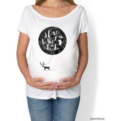 Koszulka damska, ciążowa. i love to the you. Szare bluzki asymetryczne Pakamera, z nadrukiem, moda ciążowa. Za 89,00 zł.