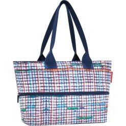Shopper bag damskie: Shopper bag w kolorze niebieskim – 50 x 26,5 x 16 cm