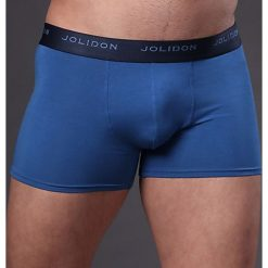 Męskie bokserki JOLIDON Silk Touch Blue. Niebieskie bokserki męskie marki Astratex, z bawełny. Za 77,99 zł.
