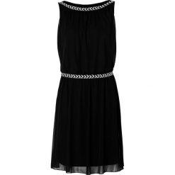 Sukienka shirtowa bonprix czarny. Czarne sukienki balowe bonprix, w paski, z tkaniny, z dekoltem w łódkę. Za 129,99 zł.