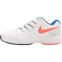 Nike Performance AIR ZOOM PRESTIGE HC Obuwie multicourt white/hot lava/pure platinum/blue. Białe buty do tenisu damskie Nike Performance, z materiału. Za 419,00 zł.