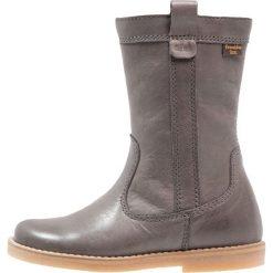 Froddo Kozaki grey. Szare buty zimowe damskie Froddo, z materiału, na wysokim obcasie. W wyprzedaży za 335,20 zł.