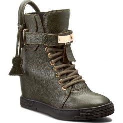Sneakersy R.POLAŃSKI - 832 Zielony Oliwka Lico. Czarne sneakersy damskie marki R.Polański, ze skóry, na obcasie. W wyprzedaży za 329,00 zł.