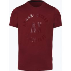 Armani Exchange - T-shirt męski, czerwony. Czarne t-shirty męskie marki Armani Exchange, l, z materiału, z kapturem. Za 149,95 zł.