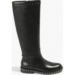 Kozaki czarne Serapia. Fioletowe buty zimowe damskie marki Badura. Za 575,99 zł.