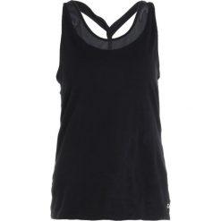 GAP TWIST BACK TANK Koszulka sportowa true black. Czarne t-shirty damskie GAP, xl, z bawełny. Za 129,00 zł.