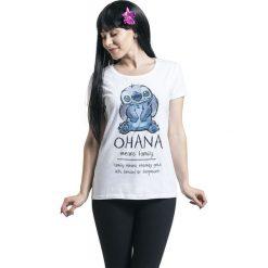 Lilo & Stitch Ohana Means Family Koszulka damska biały. Białe bluzki asymetryczne Lilo & Stitch, xl. Za 74,90 zł.