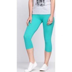 Spodnie damskie: Zielone Legginsy Footprints