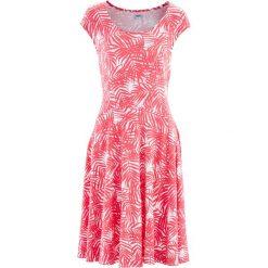 Sukienki: Sukienka bonprix biało-jasnoróżowy z nadrukiem