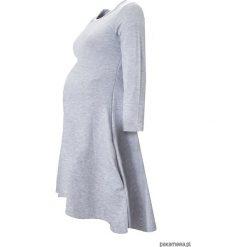 Sukienki ciążowe: Sukienka ciążowa klosz dłuższy tył jasnoszara