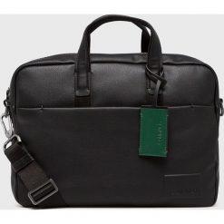 Calvin Klein - Torba. Czarne torby na laptopa marki Calvin Klein, w paski, z materiału. Za 629,90 zł.