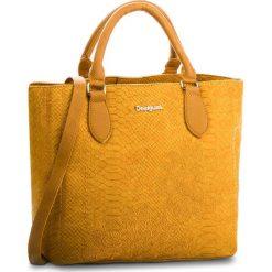 Torebka DESIGUAL - 18WAXPC4 8019. Żółte torebki klasyczne damskie Desigual, ze skóry ekologicznej, duże. Za 349,90 zł.