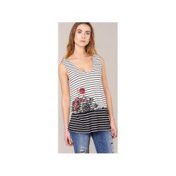 Topy na ramiączkach / T-shirty bez rękawów Desigual  GRIZELLA. Szare topy damskie marki Desigual, l, z tkaniny, casualowe, z długim rękawem. Za 161,85 zł.