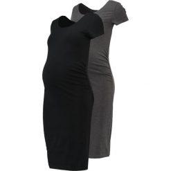 Sukienki hiszpanki: Zalando Essentials Maternity 2 PACK Sukienka z dżerseju black/dark grey melange