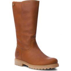 Kozaki PANAMA JACK - Bambina B11 Napa Grass Cuero/Bark. Brązowe buty zimowe damskie Panama Jack, ze skóry, na obcasie. Za 789,00 zł.