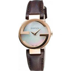 ZEGAREK GUCCI Interlocking YA133516. Czarne zegarki męskie marki KALENJI, ze stali. Za 4390,00 zł.