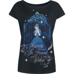 Piękna i Bestia Blue Beauty Koszulka damska czarny. Czarne bluzki asymetryczne Piękna i Bestia, m, z nadrukiem, z dekoltem w łódkę. Za 79,90 zł.