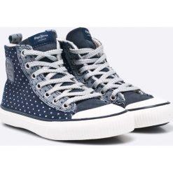 Pepe Jeans - Trampki dziecięce Industry Ripped. Szare buty sportowe dziewczęce Pepe Jeans, z jeansu. W wyprzedaży za 159,90 zł.