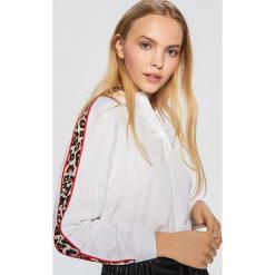 Koszula z lampasem - Biały. Białe koszule wiązane damskie Cropp, l. Za 69,99 zł.