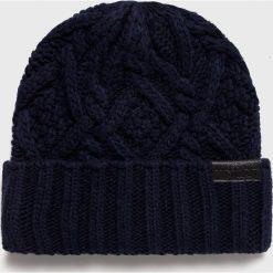 Trussardi Jeans - Czapka. Czarne czapki zimowe męskie Trussardi Jeans, z jeansu. Za 169,90 zł.