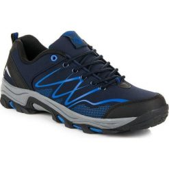 Buty trekkingowe damskie: AX BOXING Buty męskie trekkingowe niebiesko-czarne r. 44