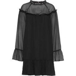 Sukienka z falbanami bonprix czarny. Czarne sukienki z falbanami marki bonprix. Za 89,99 zł.